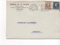 3103  Carta Verviers 1926 Belgica , Banque De La Vesdre - Bélgica