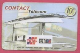CONTACT TELECOM--10€---publicité Elf Total - Antilles (French)