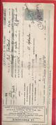 """QUITTANCE DE PRIME """" LA PROVIDENCE """" E. CHAUVIN . RUE DES ARENES . DOLE-DU-JURA . 22.45frs DU 23 SEPT 1921 + TIMBRE QUIT - Banque & Assurance"""