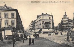 Bruxelles Brussel    Perspective Des Rues Royale Et De L'Enseignement  Paardentram          A 4807 - Brussels (City)