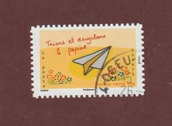 969 De 2014 - Oblitération  Cachet Rond - Série : L´Avenir Du Climat - Issu D´un Carnet De 12 Timbres Adhésifs. - France