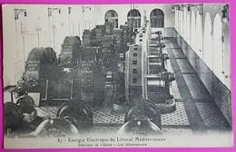 Cpa Usine Energie Electrique Du Littoral Méditerranéen Les Alternateurs CP 83 Var Vidauban Proche Arcs Muy Draguignan - Vidauban