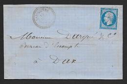 Landes - P.C. 3865  Et Cachet Type 22  LABOUHEYRE - Postmark Collection (Covers)