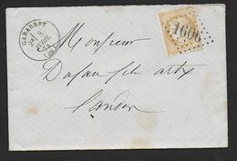 Landes - G.C. 1606  Et Cachet Type 16  GABARRET - Marcophilie (Lettres)