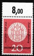 BRD 1957, Michel 255,  Postfrisch **, Aschaffenburg - Unused Stamps