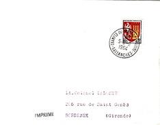 FRANCE LETTRE 1964 CHAMPIONNATS DU MONDE DE CYCLISME SALLANCHES 5-8 9 1964 - Francia