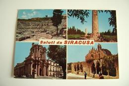 SALUTI  DA  SIRACUSA    VIAGGIATA  COME DA FOTO - Siracusa