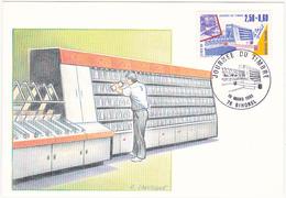 JOURNEE DU TIMBRE 1991 - Le Tri Postal / Dessin Original André Lavergne - Cartes-Maximum