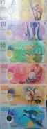 O) 2015 MALDIVES, POLYMER -BANKNOTE-COMPLETE SERIES RUFIYAA - MDV ISO 3166, UNC,CULTURE, ECONOMIC ACTIVITIES, HANDICRAFT - Maldives