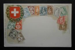Suisse - CPA Précurseur Avant 1906, Allégorie Timbres TP, Philatélie, Pays : Suisse - Sellos (representaciones)