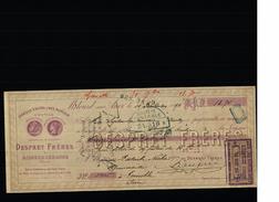 Mandat - 10/09/1890 - MILOURD Sur ANOR ( Nord ) - DESPRET Frères Aciers, Limes, Marteaux - Mrs PATURLE ,NICOLET - Lettres De Change