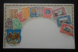 Mexique - CPA Précurseur Avant 1906, Allégorie Timbres TP, Philatélie, Pays : Mexique - Sellos (representaciones)