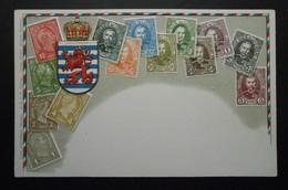 Luxembourg - CPA Précurseur Avant 1906, Allégorie Timbres TP, Philatélie, Pays : Luxembourg - Sellos (representaciones)