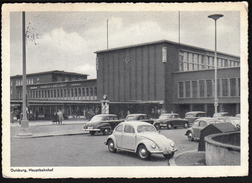 Germany Castrop Rauxel 1967 / Duisburg Hauptbahnhof / Railway Station / Car VW Buba - Stations - Zonder Treinen