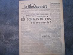La Vie Ouvrière - Appel à La Grève Générale à L'approche De La Libération - 1939-45