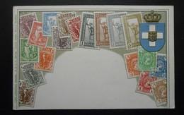 Grèce - CPA Précurseur Avant 1906, Allégorie Timbres TP, Philatélie, Pays : Grèce - Sellos (representaciones)