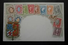 Suède - CPA Précurseur Avant 1906, Allégorie Timbres TP, Philatélie, Pays : Suède - Sellos (representaciones)