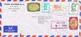 20969. Carta Aerea Certificada KHORAMSHAHR (Iran) 1973. Stamp SHA Et Escriture - Iran