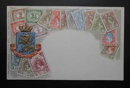 Pays-Bas - CPA Précurseur Avant 1906, Allégorie Timbres TP, Philatélie, Pays : Pays-Bas - Sellos (representaciones)