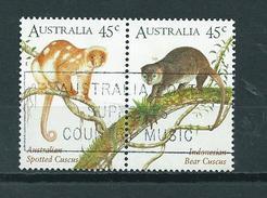 1996 Australia Complete Set/pair Cuscus,animals,dieren,tiere Used/gebruikt/oblitere