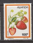 1987 Rwanda Fruits 100f STRAWBERRY FRAISE  - Much Cheaper Than Buying Complete Set!!! - Obst & Früchte