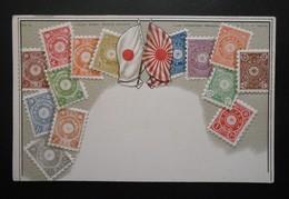 Japon - CPA Précurseur Avant 1906, Allégorie Timbres TP, Philatélie, Pays : Japon - Sellos (representaciones)