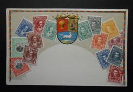 Venezuela - CPA Précurseur Avant 1906, Allégorie Timbres TP, Philatélie, Pays : Venezuela - Sellos (representaciones)