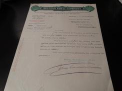 Belgian Shell Company Document Du 15/09/1930 - Belgique