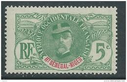 Haut-Sénégal   N° 4 X : Type Faidherbes 5 C. Vert  Trace De  Charnière Sinon TB