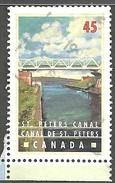 Sc. # 1725 Canals, St. Peter's Canal, Nova Scotia Single Used 1998 K926 - 1952-.... Règne D'Elizabeth II
