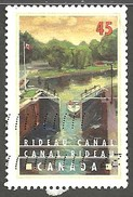 Sc. # 1728 Canals, Rideau Canal In Summer Single Used 1998 K927 - 1952-.... Règne D'Elizabeth II