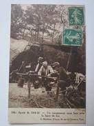 Guerre 1914 1915 Un Campementsous Bois Près Des Lignes De Feu - Guerre 1914-18