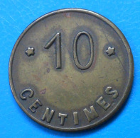 Belgique Thy-le-chateau Société , 10 Centimes Laiton 25mm - Monetari / Di Necessità