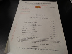 Belgian Shell Company - Prix Courant Pour Garagistes Et Revendeurs 06/04/1932 - Invoices & Commercial Documents