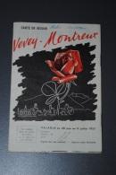 Ancienne Brochure Touristique Carte De Séjour VEVEY MONTREUX 1957 - Tourism Brochures