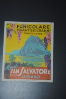 Ancienne Brochure Touristique Funiculaire Lugano Suisse Funicolare Drahtseilbahn Monte San Salvatore Lugano - Tourism Brochures