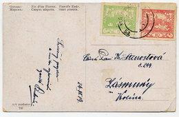 CZECHOSLOVAKIA 1919 Postcard With Michel 2 And 3 - Czechoslovakia