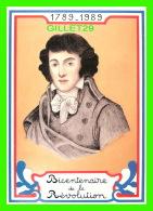 CÉLÉBRITÉS HISTORIQUES - LOUIS SAINT-JUST (1767-1794) - BICENTENAIRE DE LA RÉVOLUTION FRANÇAISE - EQUINOXE DIFFUSION, 19 - Personnages Historiques