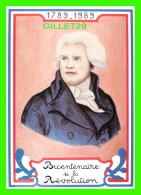 CÉLÉBRITÉS HISTORIQUES - GEORGES JACQUES DANTON (1759-1794 -BICENTENAIRE DE LA RÉVOLUTION FRANÇAISE - EQUINOXE DIFFUSION - Personnages Historiques