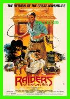 """AFFICHES DE FILM -""""RAIDERS OF THE LOST ARK"""" - ARTISTE, HARRISON FORD  - ÉDITIONS, HUMOUR À LA CARTE - - Affiches Sur Carte"""