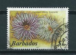 1987 Barbados $1.00 Sea Anemone Used/gebruikt/oblitere - Barbados (1966-...)