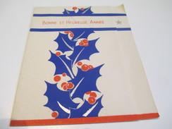Carte De Vœux Ancienne Usagée/Canada/Houx Bleu/Noël Et Jour De L'an/ /Vers 1935-55   CVE117 - Autres Collections