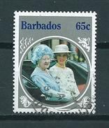 1985 Barbados 65 Cent Queen Elisabeth Used/gebruikt/oblitere