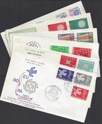 TURQUIE - 1960-70 - Six Enveloppes Premier Jour Europa - B/TB - 4 Scans - - 1921-... República