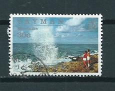 1991 Cayman Islands 30 Cent Blowholes,island View Used/gebruikt/oblitere - Kaaiman Eilanden