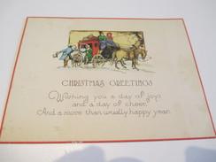 Carte De Vœux Ancienne Usagée/Canada/descente De La Diligence/Noël Et Jour De L'an/ Vers 1935-55   CVE121 - Autres Collections