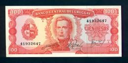 Banconota Uruguay 100 Pesos 1967 FDS - Uruguay