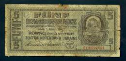 Banconota  UCRAINA 10-3-42 - 5 Karbowanez - Oekraïne