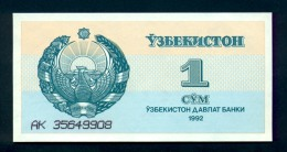 Banconota  UZBEKISTAN 1 Sum 1992 - Uzbekistan