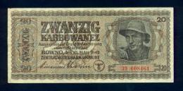 Banconota  Ucraina 10/3/42 - 20 Karbowanez - Ukraine